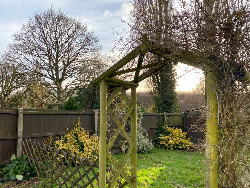 Through arch in Garden
